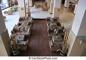 Oriental Hotel Lobby - A photo of an empty oriental style...