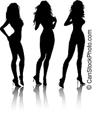 Sexy females - Silhouettes of sexy females