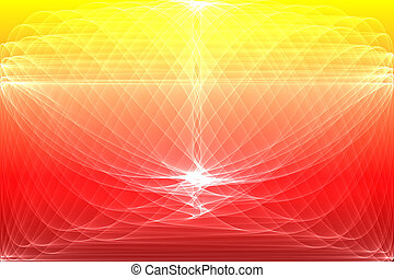 Digital background on yellow and red