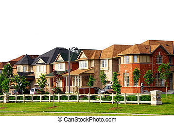 Houses - Row of new residential houses in suburban...