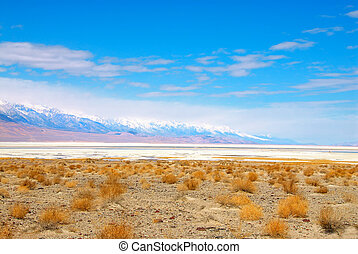 Death Valley Salt Pan is one of the largest salt pans in the...