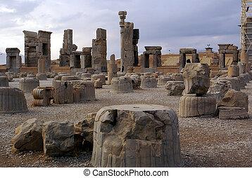Columns in Persepolis, Iran