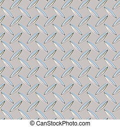 chrome diamond plate - A chrome, diamond plate texture that...