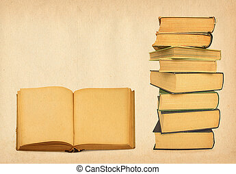 antique books on grunge background