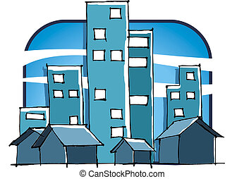 city - buildings and houses