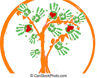 a green tree .logo - A logo which includes an abstract tree...