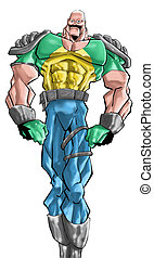 a big hero - a big and strong man looking lika a hero