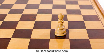 Pawn - Lonely pawn on empty chess board