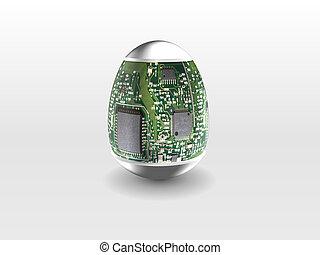 hight technology Easter egg