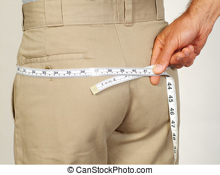 Butt measurement  - Taking a measurement of a persons bottom