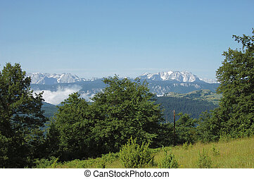 Wild landscapes - Snow at mountains in summer from Serbia