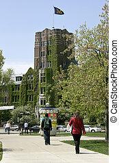 Michigan Union - students walking on University of Michigan...