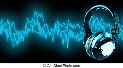 escuchar, a, Música, (, Recorte, Trayectoria, XXL)