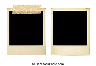 Old Photo Frames XXL - Old Polaroids Isolated On White