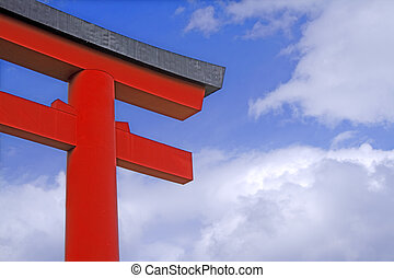 Japanese temple gate - Image of a traditional Japanese...