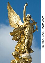 Palace Angel - Golden angel on the top of the Victoria...