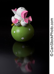 Easter decoration - Small easter decoration on black...