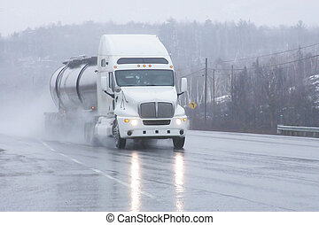 white tanker - tanker heading north