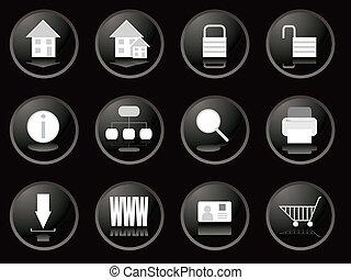 blackberry buttons web - A collection of twelve web buttons...