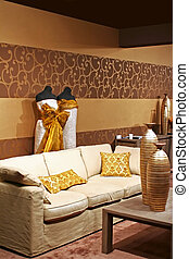 east design - design of interior in eastern style with...