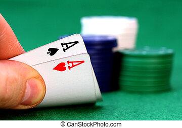 Ases, póker, astilla