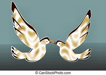 Golden doves