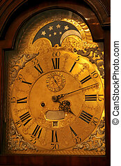 antique watch face - Ancient floor watch count modern time...
