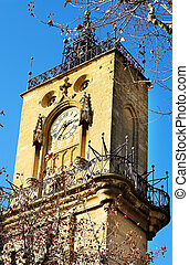 Aix-en-provence #40 - The clocktower of Hotel de Ville in...