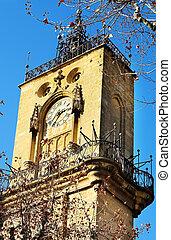 Aix-en-provence #40 - The clocktower of Hotel de Ville in...