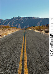 Road in Death Valley, California, USA - Death Valley in...