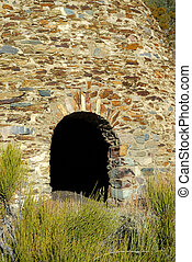 Wildrose Charcoal Kilns - Entry Door to one of the Wildrose...
