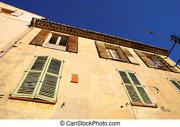Antibes 18 - A building in Antibes, France Copy space