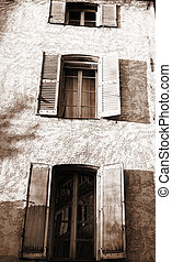Antibes 52 - Building in Antibes, France Sepia tone