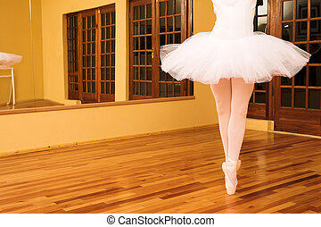 Ballerina #14 - Lady doing ballet in dance studio.