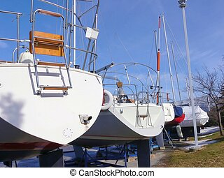 Yacht harbor 60543 - An yacht harbor where the sailboats sit...