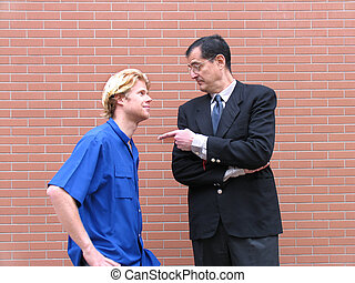 My boss and me - Boss talking with his employe