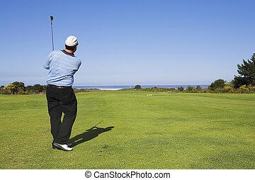 Golf #19 - Man playing golf