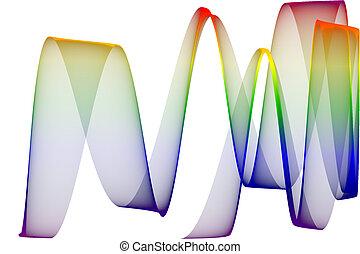Rainbow ribbon, computer generated