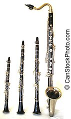 Clarinets - Bb, Eb, Bass Clarinet, and a C Clarinet