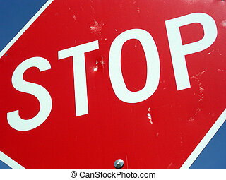 Stop Shooting - Stop sign shot up by a pellet gun