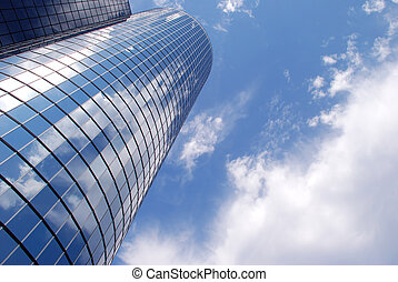 Building and sky 2 - Mirrored building reflecting the sky