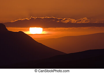 fintry sunset - Layers of hills above Fintry in Scotland...