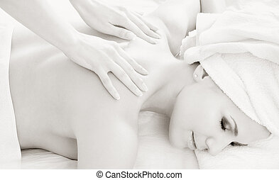 monochrome professional massage 2 - monochrome picture of...