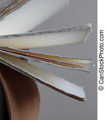 paper - close-up of a hand made book