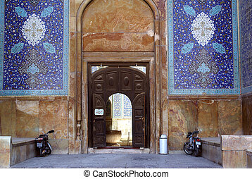 Entrance of Imam mosque in Esfahan, Iran