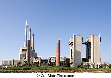 Thermal power plant in Sant Adria Barcelona, Catalonia,...
