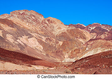 Artists Palette in Death Valley, California - The variegated...
