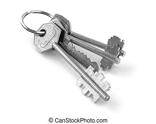 bunch of keys 1 - bunch of keys on white background