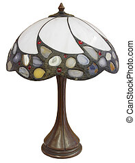 Tiffany Lamp - Tiffany Glass Table Lamp with Agate Stone...