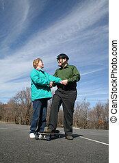 Senior Skateboarding